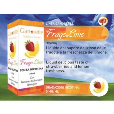 Liquido Ganorette Fragolimo 10ml senza nicotina