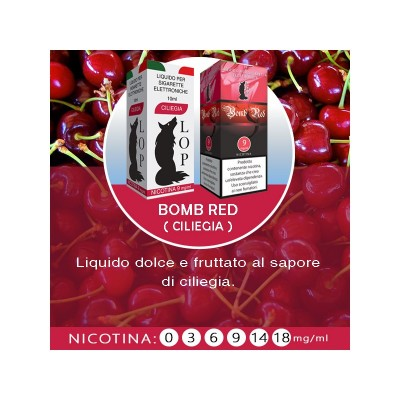 Liquido Lop Bomb Red senza nicotina 10ml