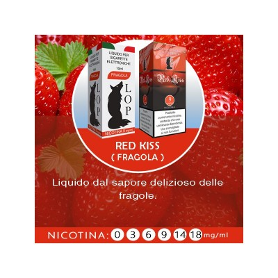 Liquido Lop Fragola senza nicotina 10ml